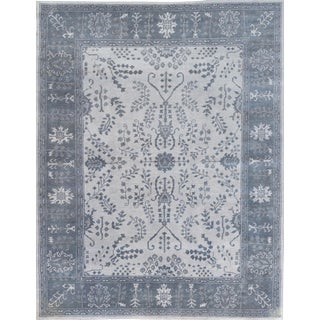 """Turkish Mansour Quality Handwoven Oushak Wool Rug - 7'10"""" X 9'11"""" For Sale"""