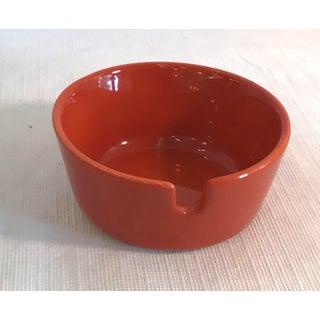 Mid-Century Japanese Orange Ceramic Ashtray Preview