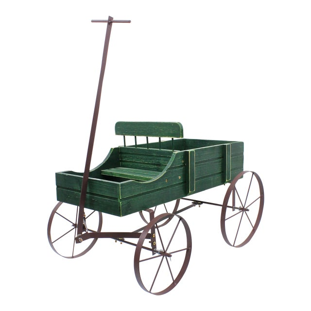 Vintage French Style Wagon Planter For Sale