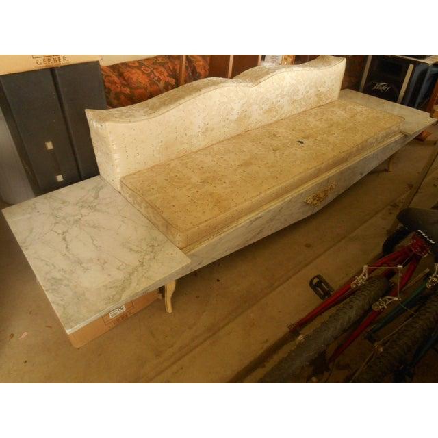 Hollywood Regency-Style Platform Sofa - Image 4 of 8