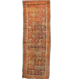 1920s Antique Persian Bidjar Runner Rug - 4′ × 11′5″ For Sale