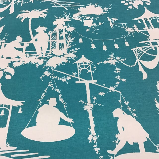 Thibaut Asian Thibaut South Sea Fabric For Sale - Image 4 of 4