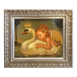 """""""Swan Princess"""" Oil Painting by Ralph Wolfe Cowan For Sale"""
