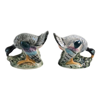 Vintage Hand-Decorated Turkey Salt & Pepper Shakers - a Pair For Sale