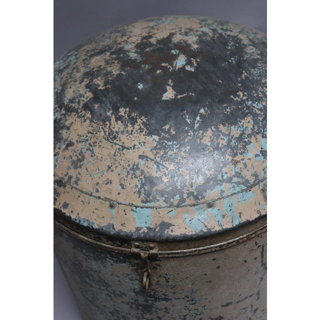 1920s Metal Grain Drum For Sale - Image 5 of 6