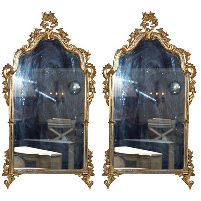 French Rococo-Style Giltwood Mirror - Image 2 of 5
