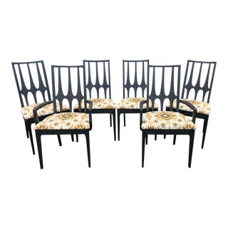 1960s Vintage Broyhill Brasilia Dining Chairs - Set of 6 For Sale