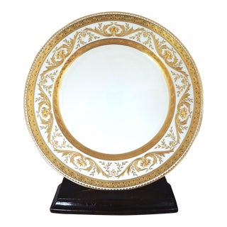 "Gold Encrusted Higgins & Seiter Luncheon Plate 9"" (Mintons)"