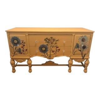 Vintage Floral Sideboard For Sale
