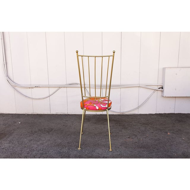 Vintage Salterini Chair with Patterned Upholstery For Sale - Image 4 of 8