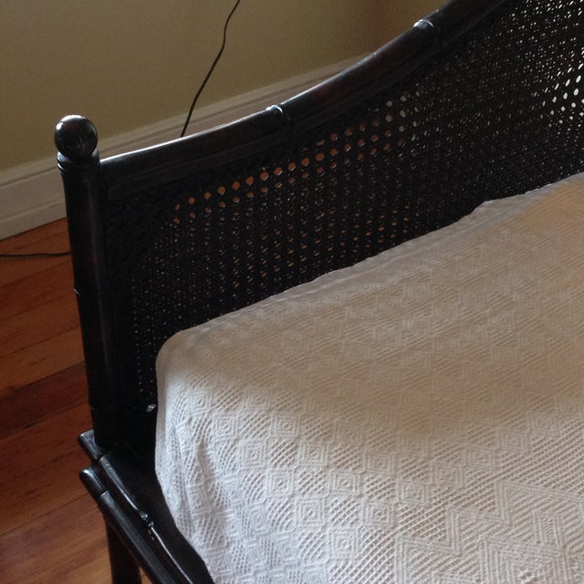 Wicker Faux Bamboo Crate and Barrel Day Bed - Image 3 of 7