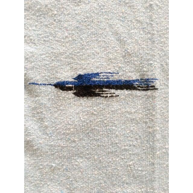Vintage Blue Thunderbird Serape Blanket - Image 5 of 6