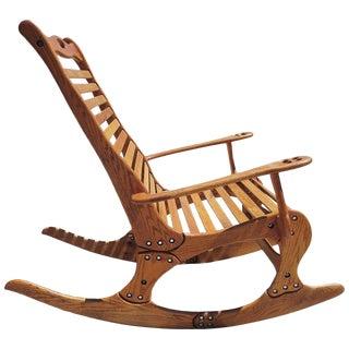 """Hand Sculpted Rocking Chair by Robert """"Jocko"""" Johnson, 1998"""