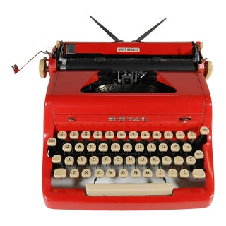 1950s 'Royal' Red Typewriter For Sale