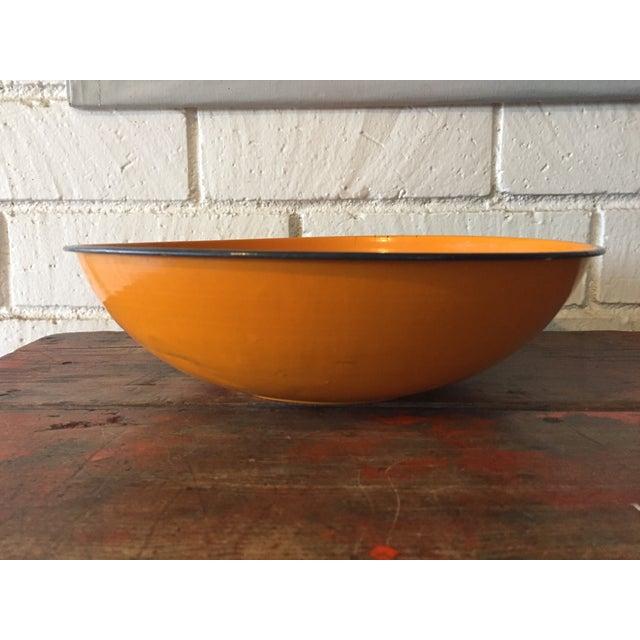 5-Piece Orange & Black Rim Enamelware - Image 8 of 8