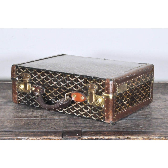 Traditional 19th Century Traditional Goyard Suitcase For Sale - Image 3 of 7