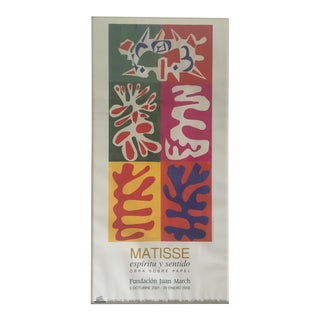 "Henri Matisse ""The Cut-Outs"" Art Exhibition Poster For Sale"