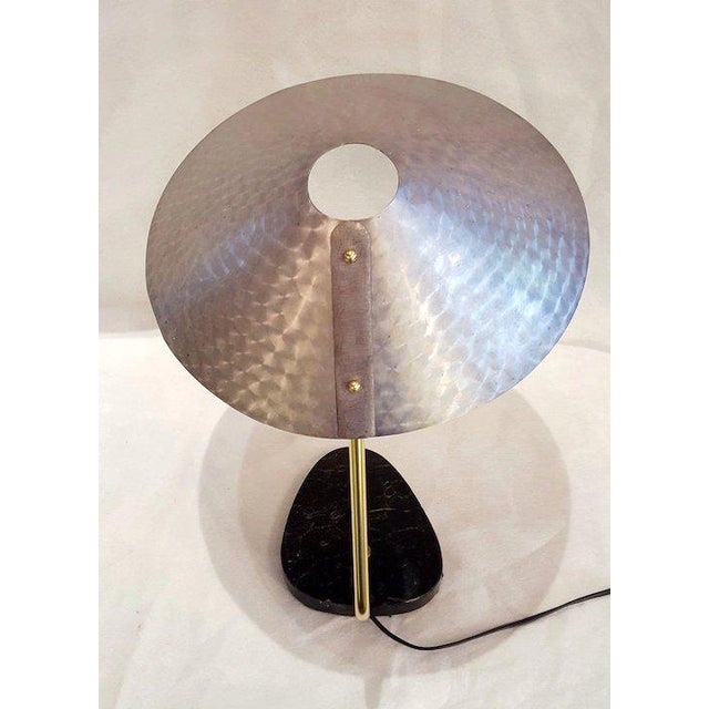 Mid-Century German Ufo Space Age Brushed Aluminum Lamp For Sale In Chicago - Image 6 of 10