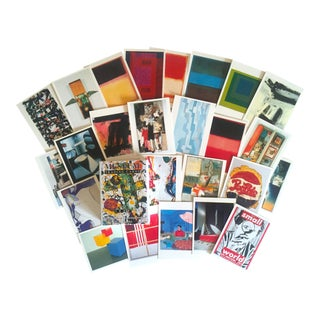 Vintage Moca Museum Los Angeles Collector's Modern Art Trading Cards - Set of 36 For Sale