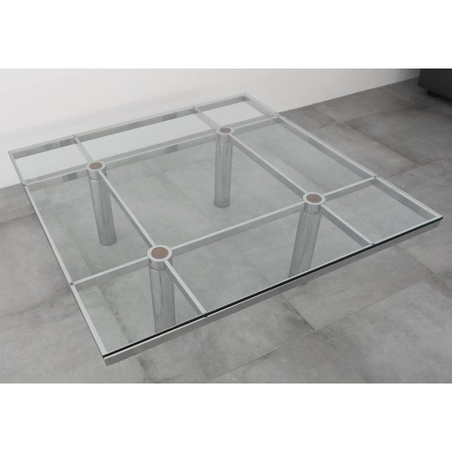 This early edition of the André coffee table was designed by Tobia Scarpa for Gavina/Knoll in the 1960s. Glass on chrome...