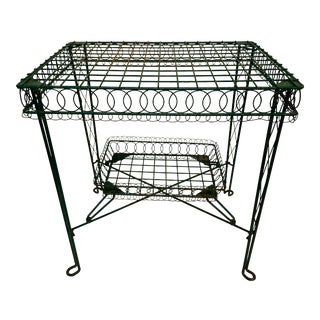 Victorian Iron Scroll Garden Patio Table With Tray For Sale