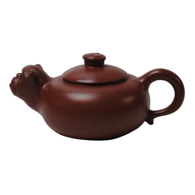 Chinese Purple Sand Clay Monkey Face Teapot - Image 1 of 4