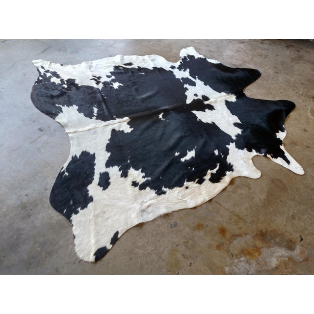 Gambrell Renard Black & White Cowhide Rug - 7′2″ × 7′6″ - Image 2 of 3