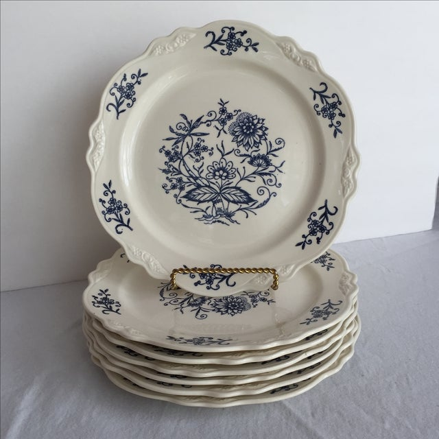 Blue Dresden Plates - Set of 7 For Sale - Image 10 of 10