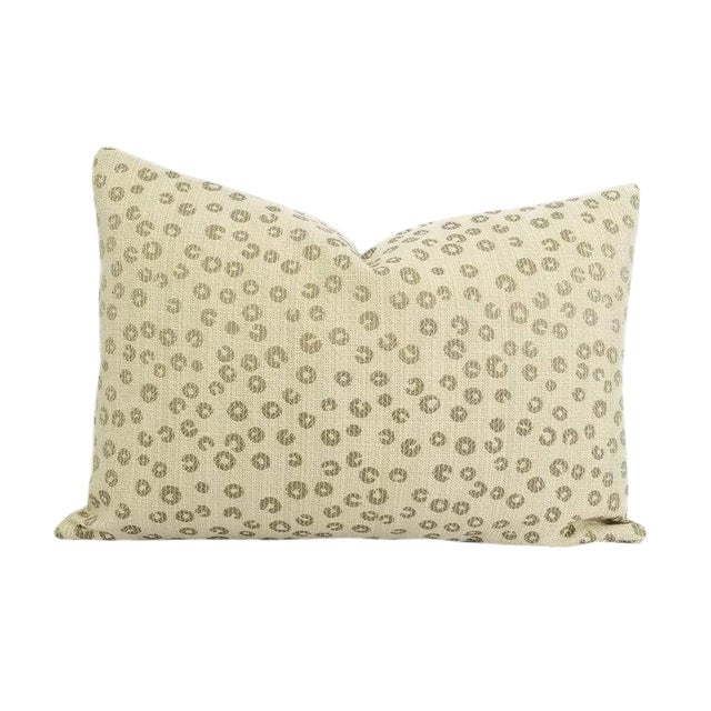 """Lee Industries Nickels in the Color Taupe Lumbar Pillow Cover - 13.5"""" X 20"""" For Sale"""