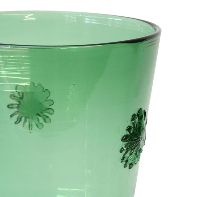 Mid-Century Modern Italian Green Glass Vase by Empoli For Sale - Image 3 of 7
