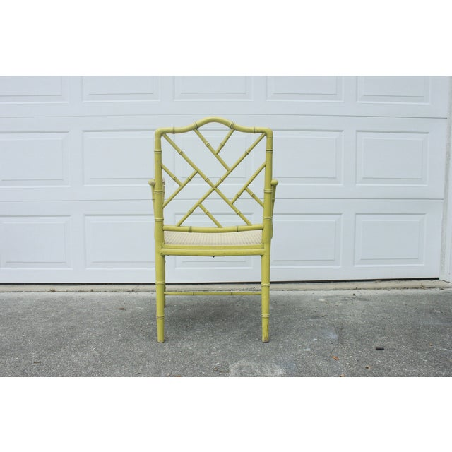 Chippendale Faux-Bamboo Fretwork Armchair - Image 7 of 8