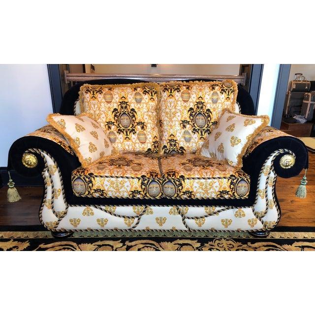 Amazing Versace Inspired Custom Italian Formal Sofa Loveseat Uwap Interior Chair Design Uwaporg