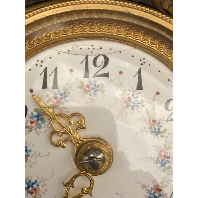 20th Century Belle Epoque Gilt Bronze Mounted Porcelain Clock For Sale - Image 12 of 12