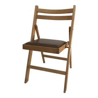 Vintage Wooden Folding Chair, Made in Romania For Sale