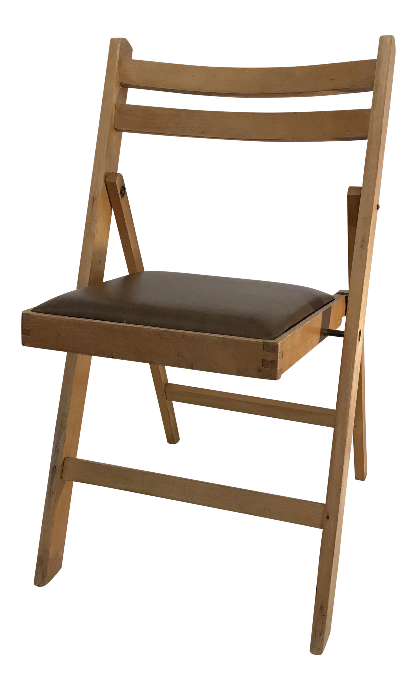 Vintage Wooden Folding Chair, Made In Romania   Image 1 Of 11