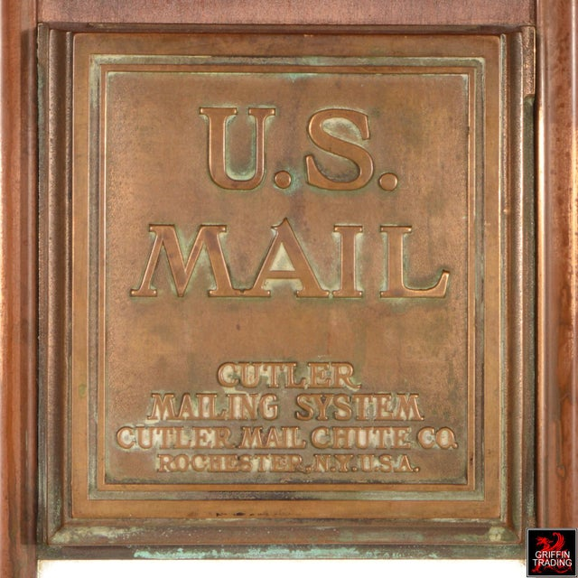 Antique Cutler Mailbox and Mail Chute For Sale - Image 10 of 11