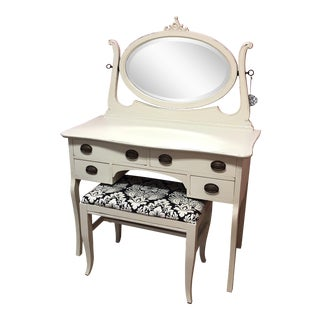 Antique Sheraton Vanity & Bench