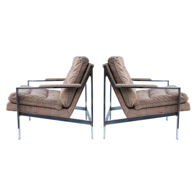 Cy Mann Chrome Flatbar Lounge Chairs, Pair For Sale - Image 11 of 11