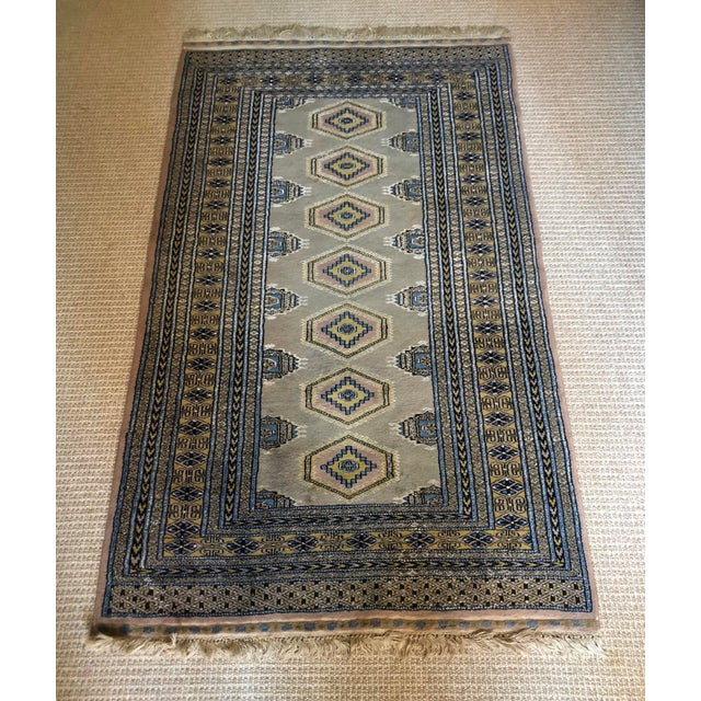Vintage Pastel Colored Bokhara Rug For Sale In New York - Image 6 of 8