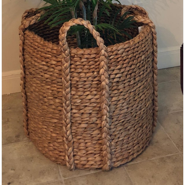 Mid-Century Modern Ralph Lauren Silk Palm & Basket For Sale - Image 3 of 6