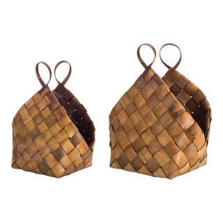 Woven Baskets from Kenneth Ludwig Home - a Pair For Sale