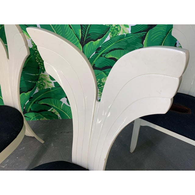 1980s Sculptural Fish Tail Back Dining Chairs in the Manner of Ello - Set of Six For Sale - Image 5 of 11