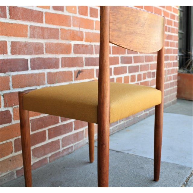 1960s Vintage Danish Modern Teak Dining Chairs- Set of 4 For Sale - Image 11 of 13