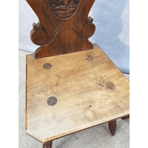 Blue Charming Very Cute Alpine Chalet Style French Alps Rustic Side Chairs For Sale - Image 8 of 13