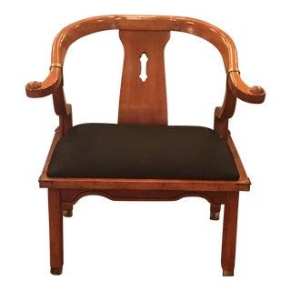 Schnadig Fabric & Wooden Armchair
