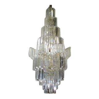 Monumental Camer Hall Glass Chandelier For Sale