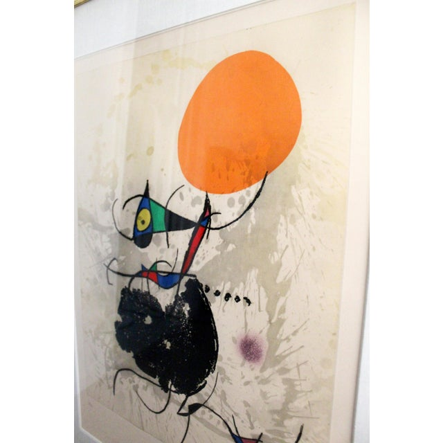 1970s Modern Miro Terre Atteinte Et Soleil Intact Color Etching Aquatint 16/50 COA '73 For Sale - Image 5 of 9