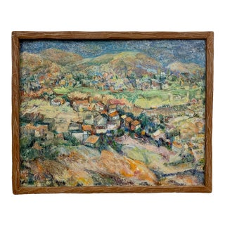 Mid-Century Gertrude Mishfeld Oil Painting For Sale