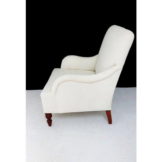 Vintage Club Chair & Ottoman - A Pair - Image 4 of 8