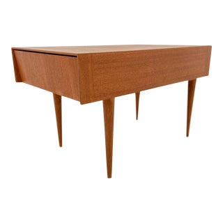Mid-Century Modern Paul Laszlo for Brown Saltman Light Ribbon Mahogany Side Table For Sale